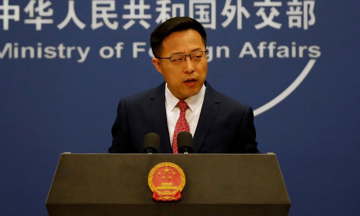 Phát ngôn viên Bộ Ngoại giao Trung Quốc Triệu Lập Kiên. Ảnh: Reuters.