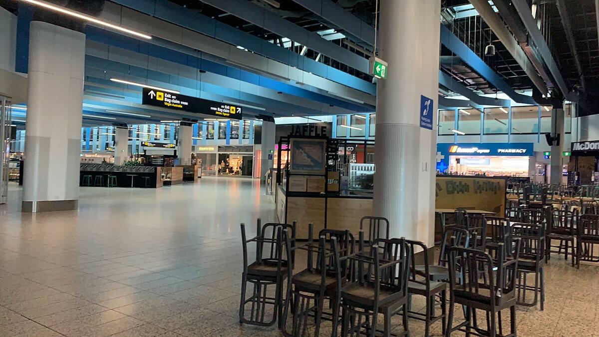 Sân bay nội địa Melbourne vắng vẻ hồi đầu tháng 6. Ảnh: Nhân vật cung cấp