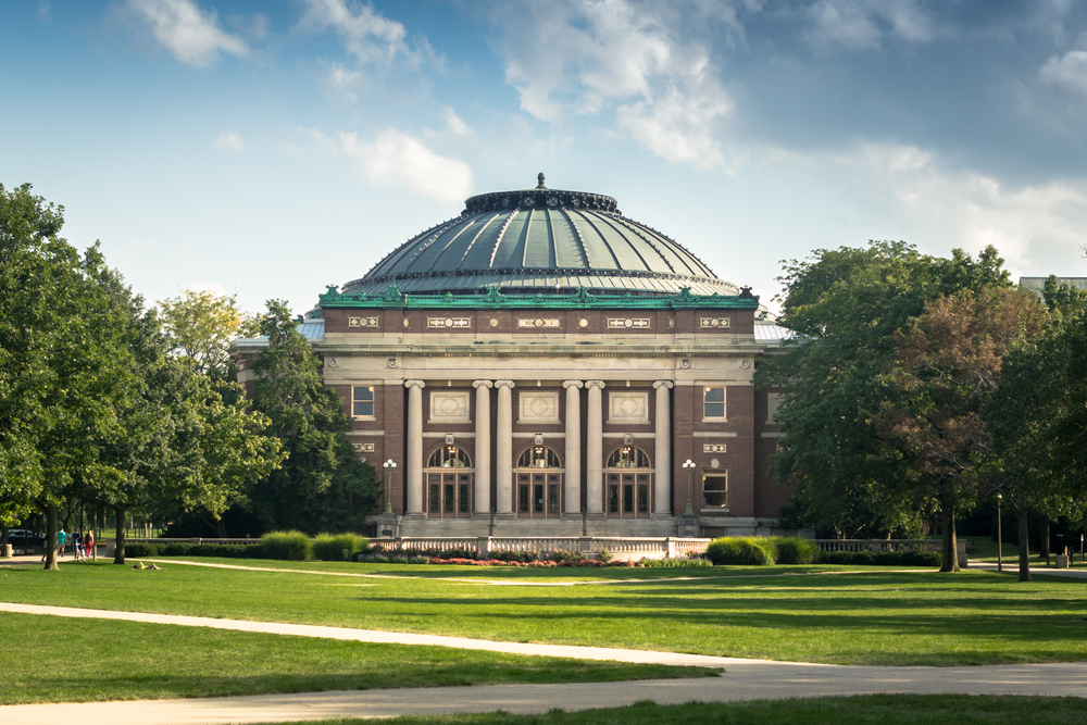 Đại học Illinois  cơ sở Urbana-Champaign. Ảnh: Shutterstock