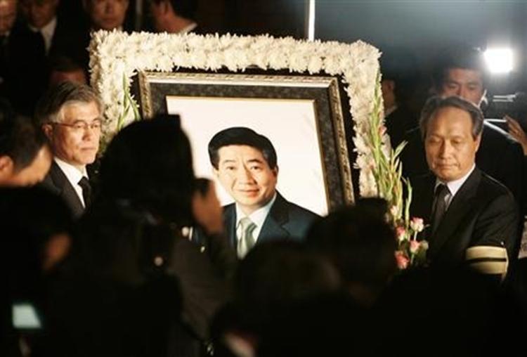 Tang lễ của cựu tổng thống Roh Moo-hyun tại Gimhae tháng 5/2019. Ảnh: Reuters.