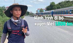 Chàng trai đi bộ xuyên Việt quyên tiền