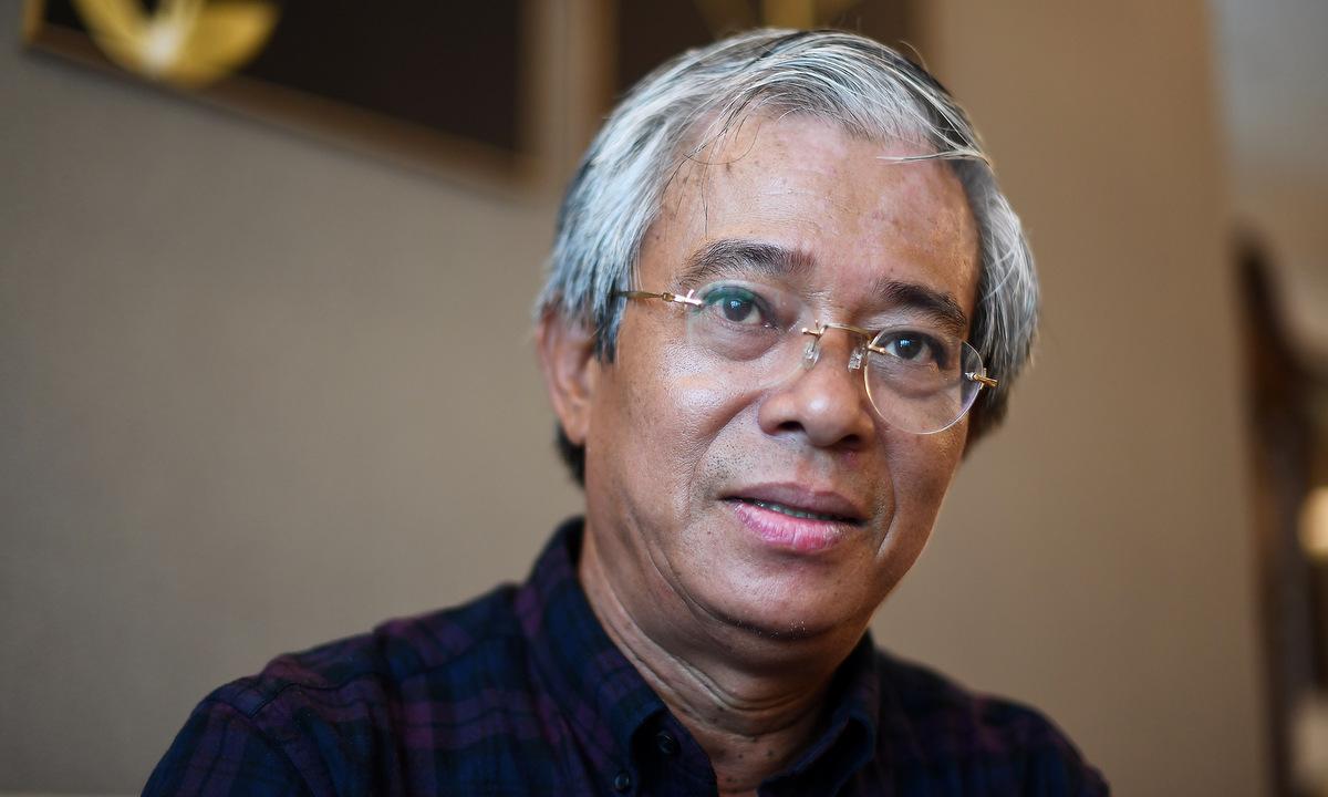 Cựu đại sứ Việt Nam tại Mỹ Phạm Quang Vinh trong trao đổi với VnExpress đầu tháng 7/2020 tại Hà Nội. Ảnh: Giang Huy.