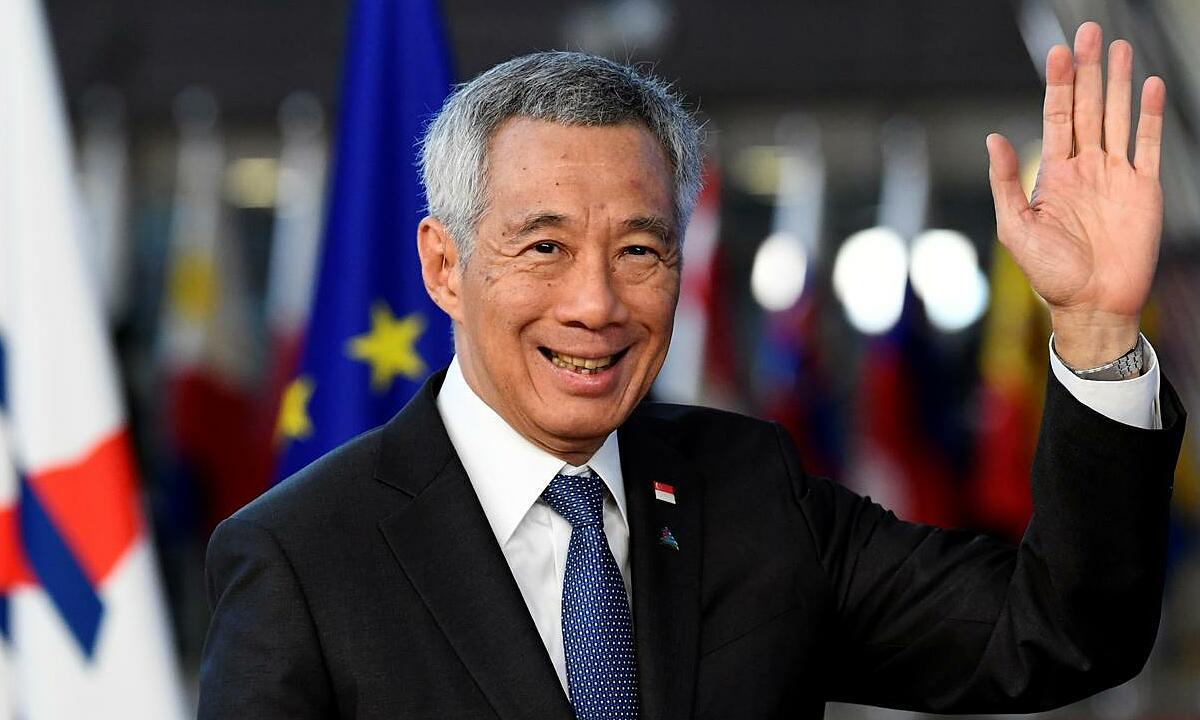 Lý Hiển Long tại một sự kiện ở Brussels, Bỉ, tháng 10/2018. Ảnh: Reuters.
