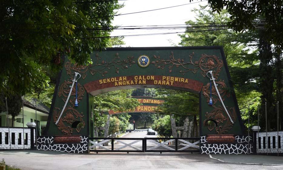 Trường Sĩ quan Lục quân Indonesia tại thành phố Bandung, tỉnh Tây Java, bị đóng cửa hôm 9/7. Ảnh: AFP.