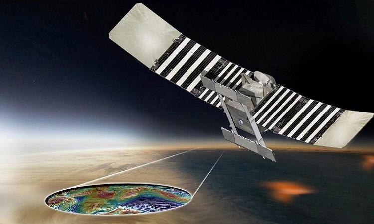 Mô phỏng tàu VERITAS lập bản đồ 3D sao Kim. Ảnh: NASA.