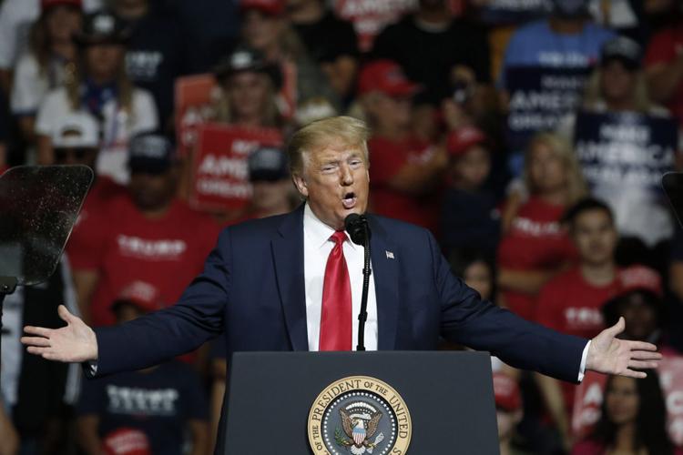 Tổng thống Mỹ Trump phát biểu trong buổi vận động tranh cử tại bang Oklahoma ngày 20/6. Ảnh: AP.