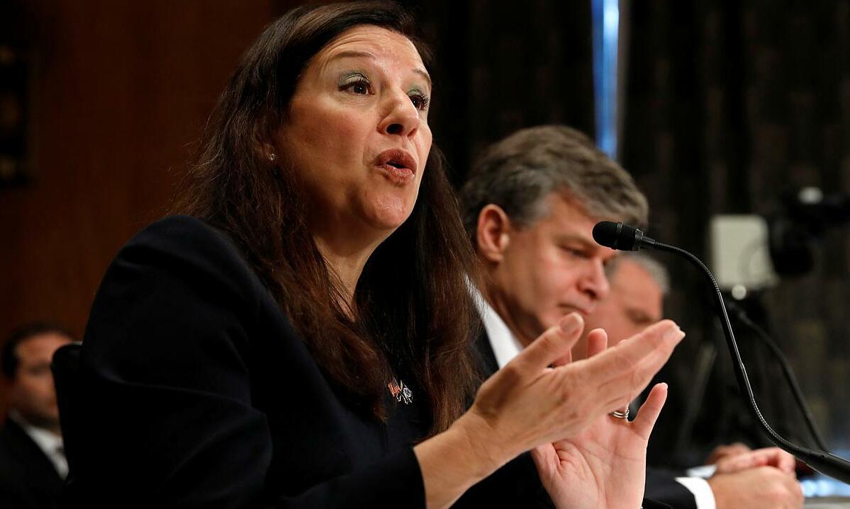 Elaine Duke phát biểu tại quốc hội Mỹ, tháng 9/2017, khi còn là quyền Bộ trưởng An ninh Nội địa. Ảnh: Reuters.