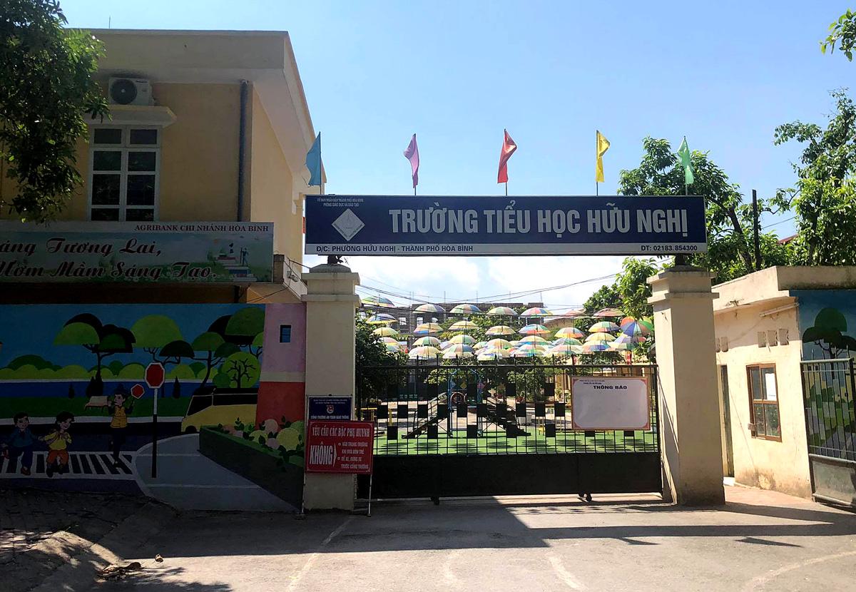 Trường tiểu học Hữu Nghị, thành phố Hòa Bình. Ảnh: Tất Định