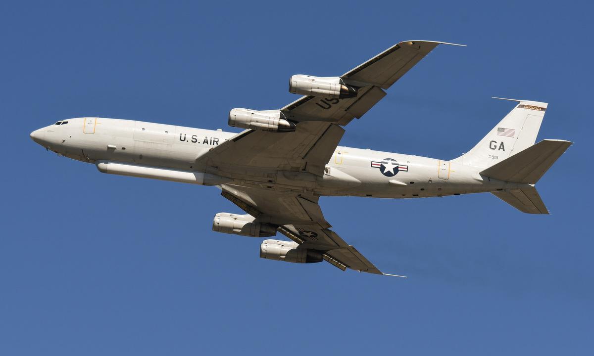 Một chiếc E-8C Mỹ bay huấn luyện hồi năm 2018. Ảnh: USAF.