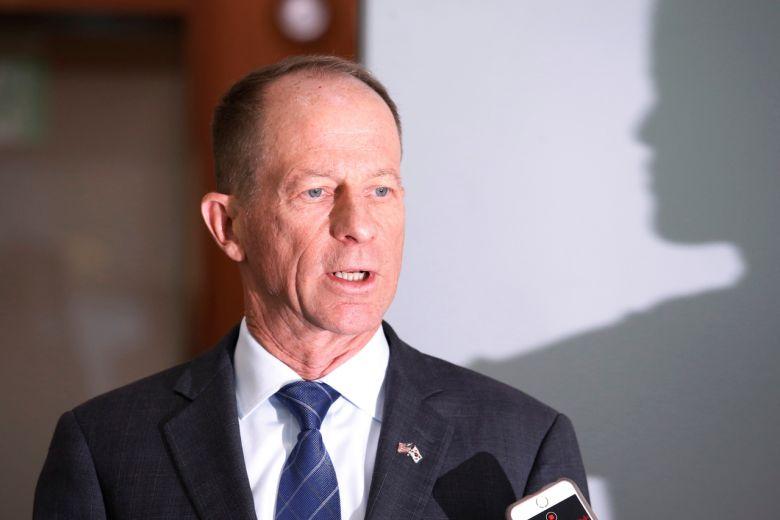 Trợ lý Ngoại trưởng Mỹ David Stilwell trả lời phỏng vấn tại Seoul, Hàn Quốc, hồi tháng 11/2019. Ảnh: Reuters.