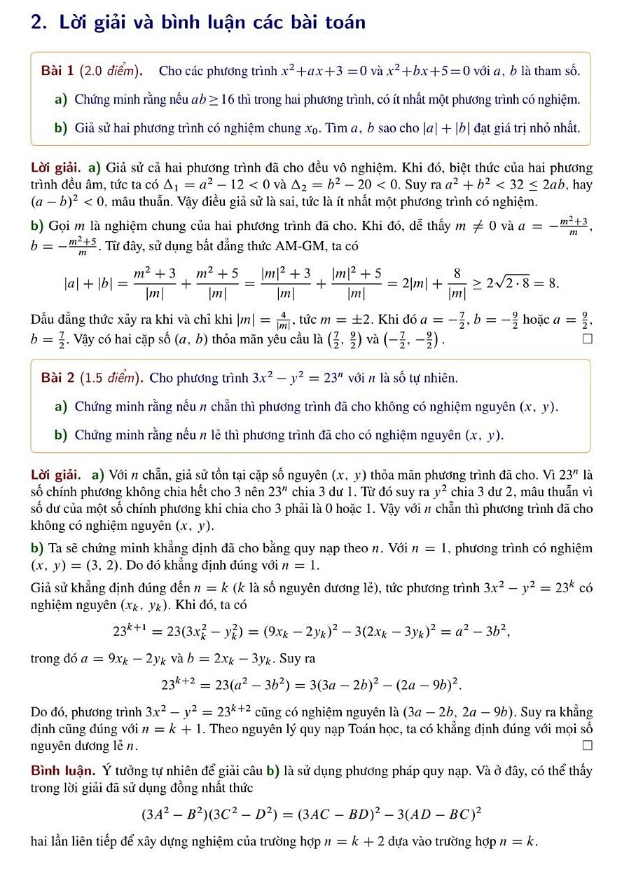 Giải đề Toán chuyên vào Phổ thông Năng khiếu - 2