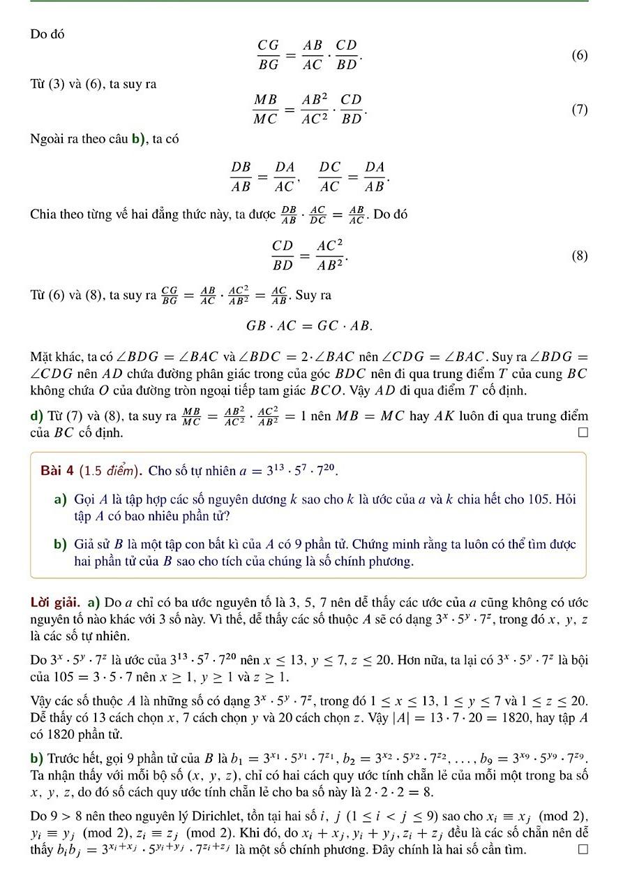 Giải đề Toán chuyên vào Phổ thông Năng khiếu - 8