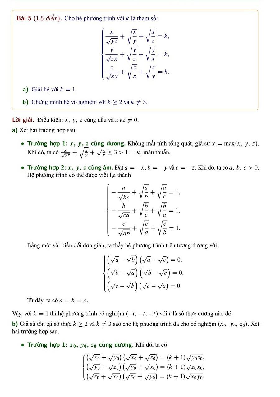 Giải đề Toán chuyên vào Phổ thông Năng khiếu - 10