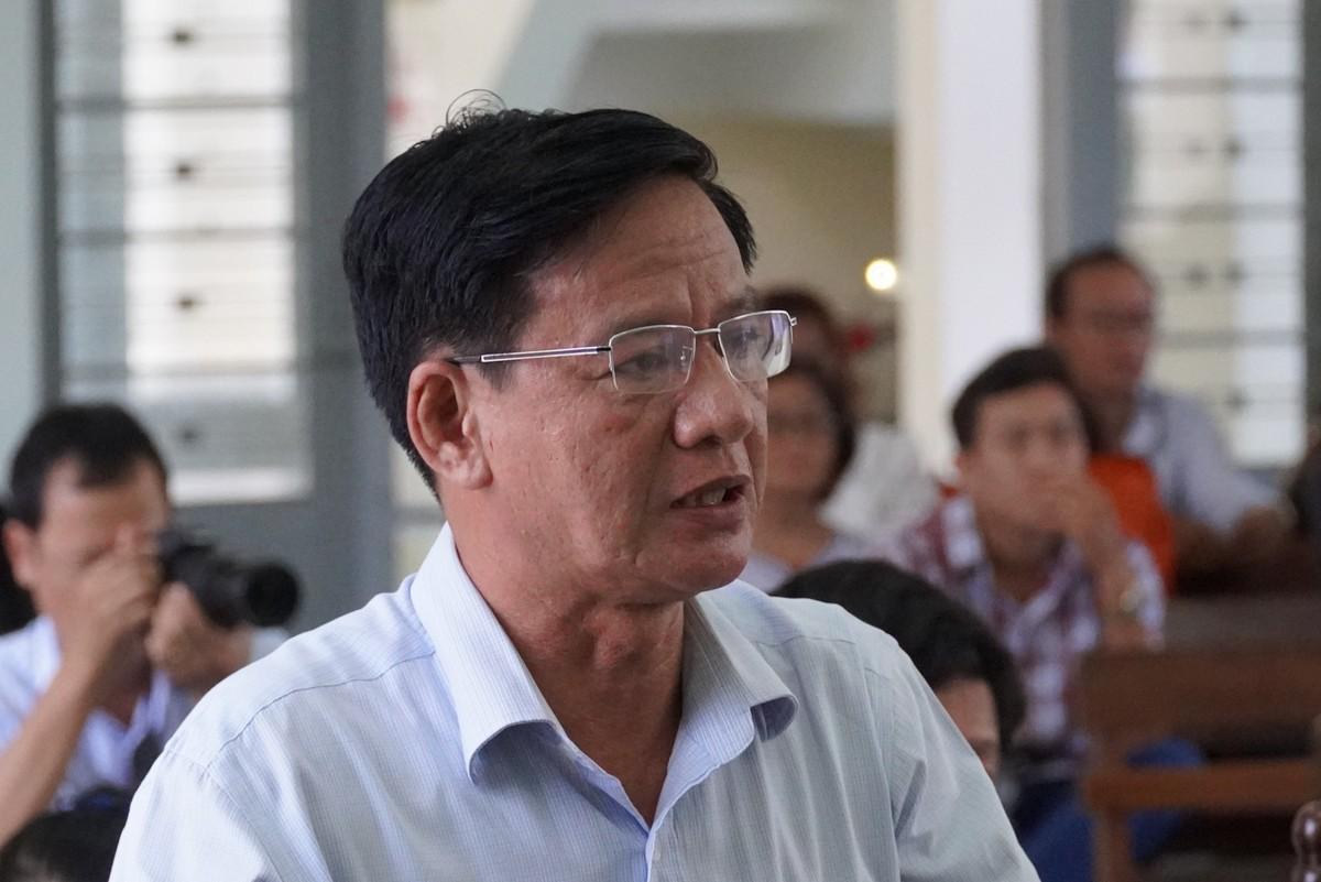 Nguyên giám đốc Nguyễn Trung Hà nói nộp khắc phục vì thấy có phần trách nhiệm trong đó do không kiểm tra chứng từ của Hiển trước khi ký. Ảnh: Việt Quốc.
