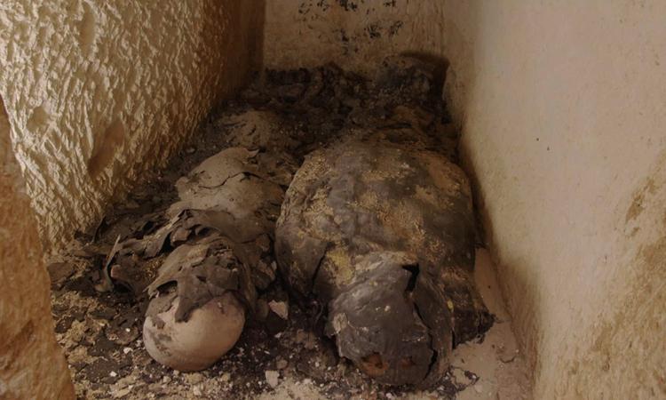 Hai xác ướp của người có địa vị cao sống cùng thời với nữ hoàng Cleopatra. Ảnh: Arrow Media.