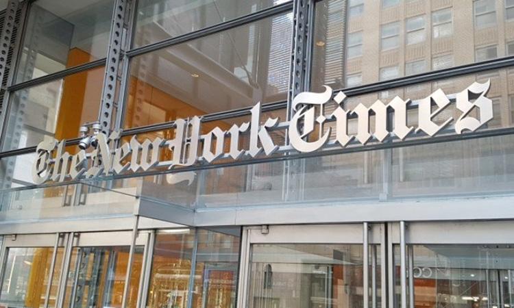 Trụ sở của New York Times tại New York, Mỹ. Ảnh: Hongkongfp.