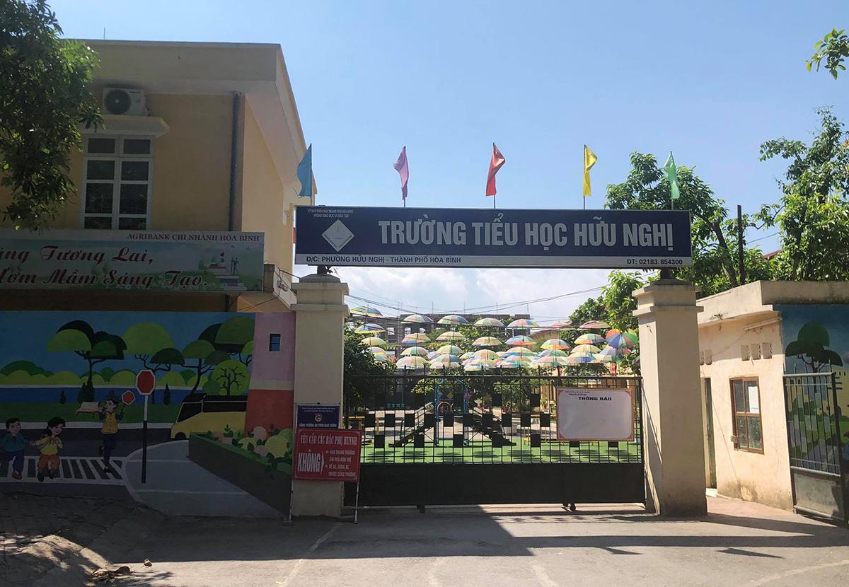 Trường tiểu học Hữu Nghị, thành phố Hòa Bình. Ảnh: Tất Định.