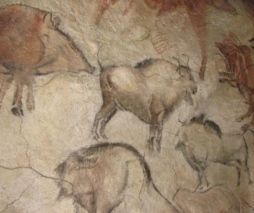 Tranh trong hang Altamira ở Anthropos Pavilion thuộc Bảo tàng Moravia, Cộng hòa Czech. Ảnh: Wikimedia Commons