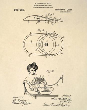Đây là bản vẽ mô tả một dụng cụ dùng để làm sạch bầu ngực nữ giới.