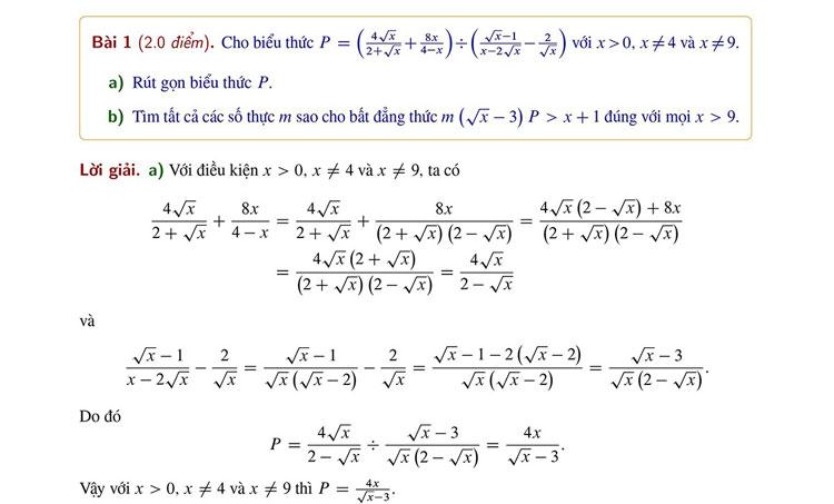 Cách giải đơn giản bài Toán thi vào trường Sư phạm