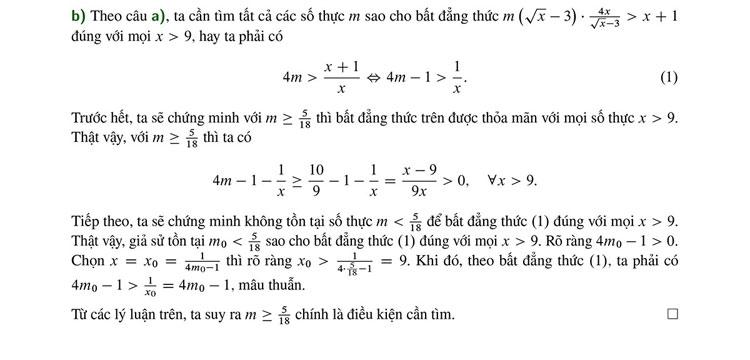 Cách giải đơn giản bài Toán thi vào trường Sư phạm - 2