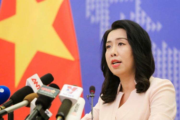 Người phát ngôn Bộ Ngoại giao Việt Nam Lê Thị Thu Hằng. Ảnh: TGVN.