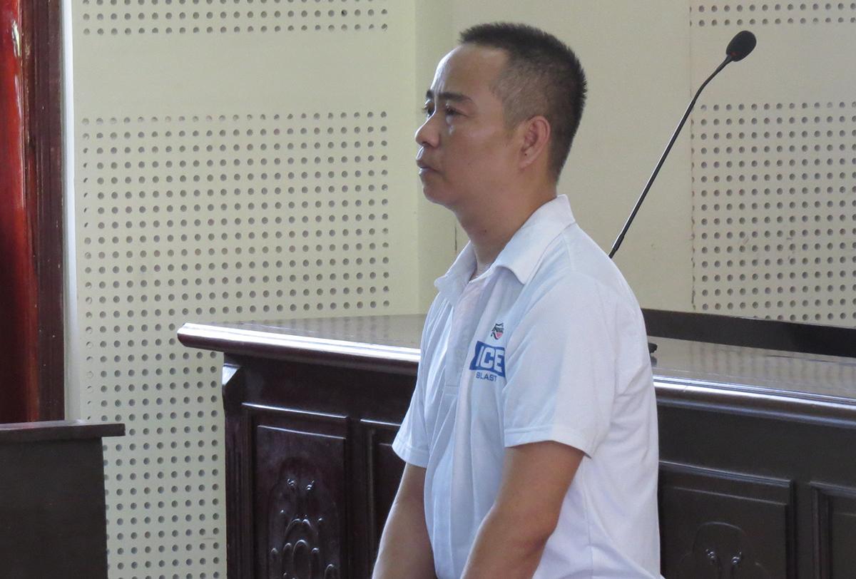 Bị cáo Giang tại phiên tòa hôm nay.