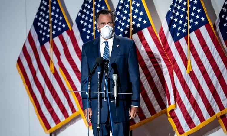 Thượng nghị sĩ đảng Cộng hòa bang Utah Mitt Romney. Ảnh: NYTimes.