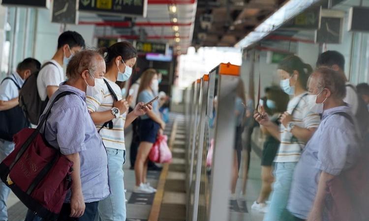 Một ga tàu điện ngầm ở Hong Kong ngày 14/7. Ảnh: Reuters.
