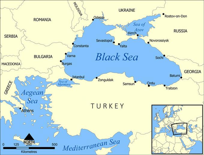 Vị trí Biển Đen. Đồ họa: Wikimedia Commons.