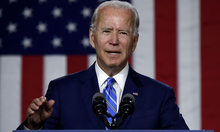 Ứng viên tổng thống đảng Dân chủ Joe Biden tại một sự kiện ở Wilmington, bang Delaware, Mỹ, hôm 14/7. Ảnh: AFP.