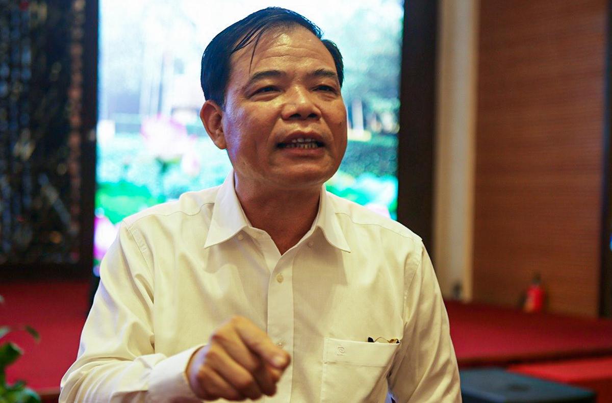 Bộ trưởng Nguyễn Xuân Cường tại hội nghị. Ảnh: Nguyễn Hải.