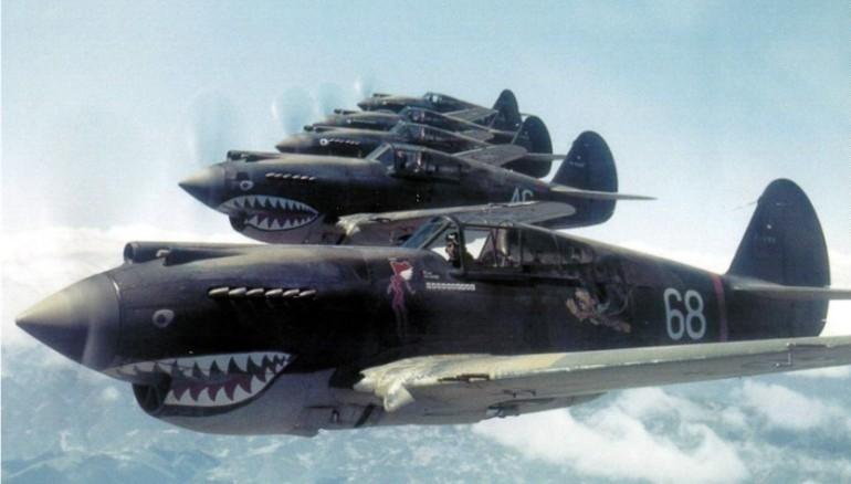 Phi đội Hổ bay bay trên Trung Quốc tháng 5/1942. Ảnh: CNN.