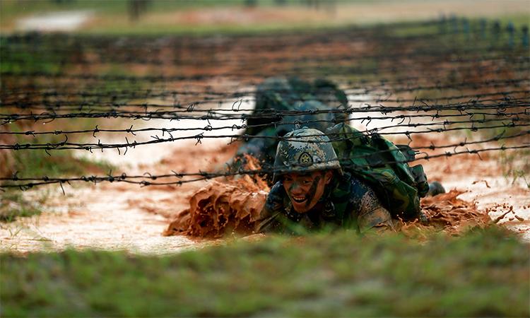 Thủy quân lục chiến Trung Quốc huấn luyện tại tỉnh Quảng Đông hồi năm 2017. Ảnh: Reuters.