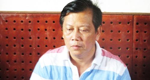 Đại gia Trịnh Sướng lúc bị bắt, giữa năm 2019. Ảnh: Bộ Công an.