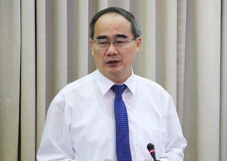 Bí thư Thành uỷ TP HCM Nguyễn Thiện Nhân. Ảnh: Trung Sơn