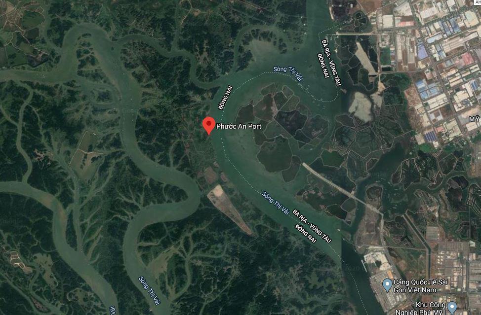 Vị trí dự kiến xây cầu Phước An. Ảnh: Google Maps.