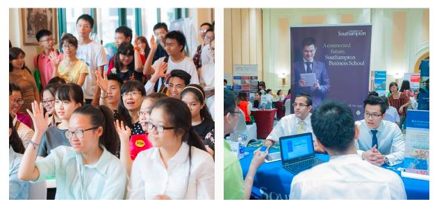 Học sinh, sinh viên có cơ hội gặp trực tiếp đại diện các trường đại học danh tiếng từ Anh khi tham gia ngày hội.