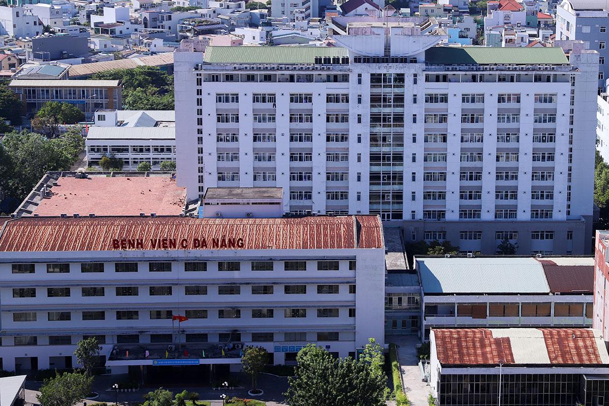 Bệnh viện C Đà Nẵng, nơi bệnh nhân thăm khám và phát hiện dương tính lần đầu với nCoV. Ảnh: Nguyễn Đông.