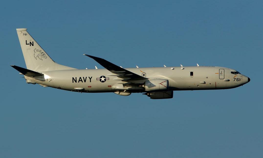 Trinh sát cơ P-8A của hải quân Mỹ làm nhiệm vụ năm 2018. Ảnh: US Navy.