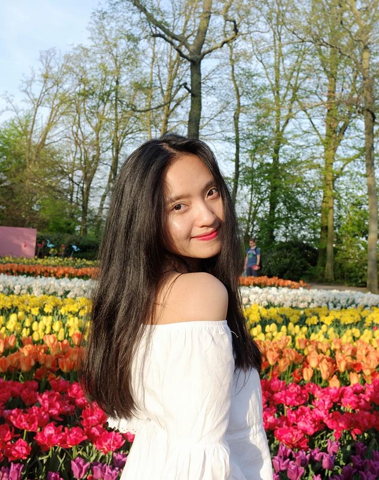 Nguyễn Châu Bảo Nhi tại Hà Lan. Ảnh: Nhân vật cung cấp
