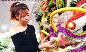 Biểu tượng rồng kết từ 600 loại nông sản