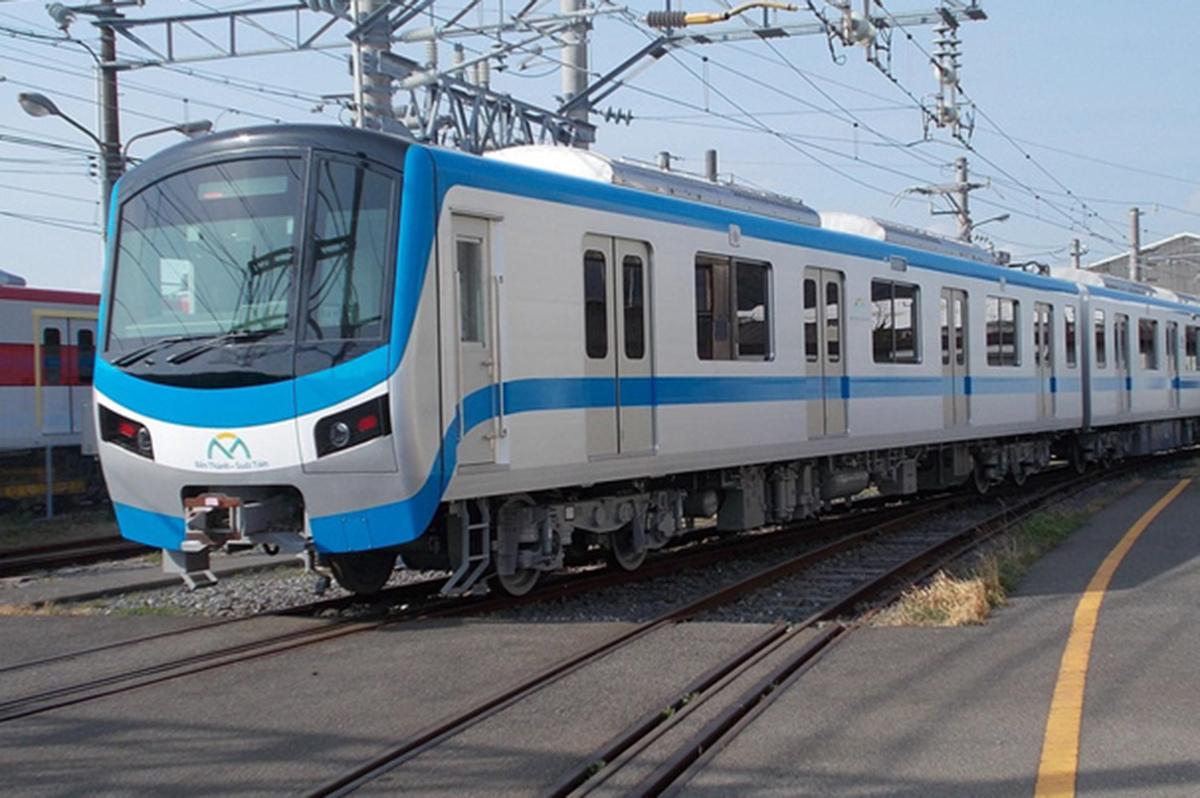 Đoàn tàu Metro Số 1 tại nhà máy ở Nhật Bản. Ảnh:MAUR.
