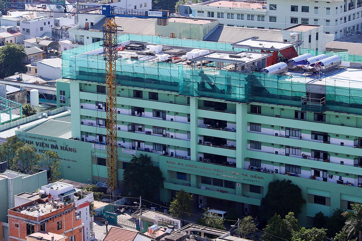 Bệnh viện Đà Nẵng, nơi đang điều trị cho hai ca lây nhiễm nCoV trong cộng đồng. Ảnh: Nguyễn Đông.