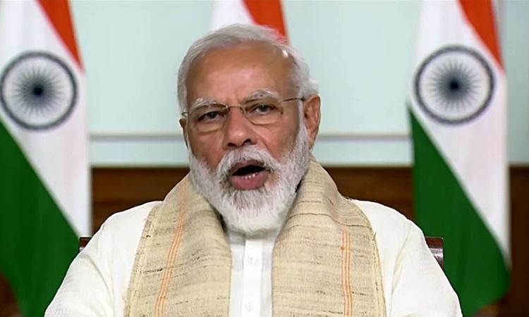 Thủ tướng Ấn Độ Narendra Modi phát biểu trong một cuộc họp ở New Delhi tháng trước. Ảnh: Reuters.