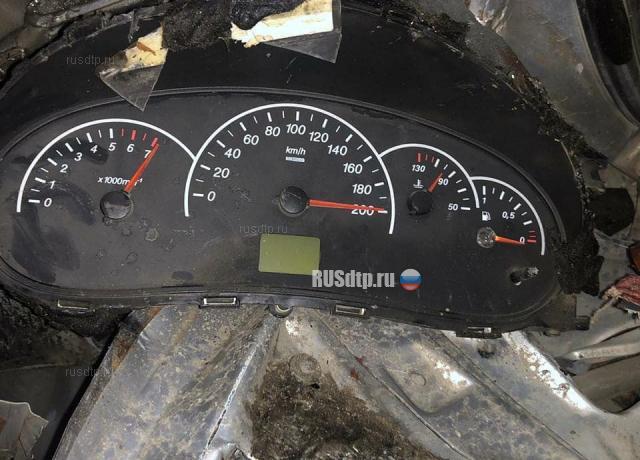 Bảng đồng hồ của một trong số các xe gặp nạn. Ảnh: RUSdtp