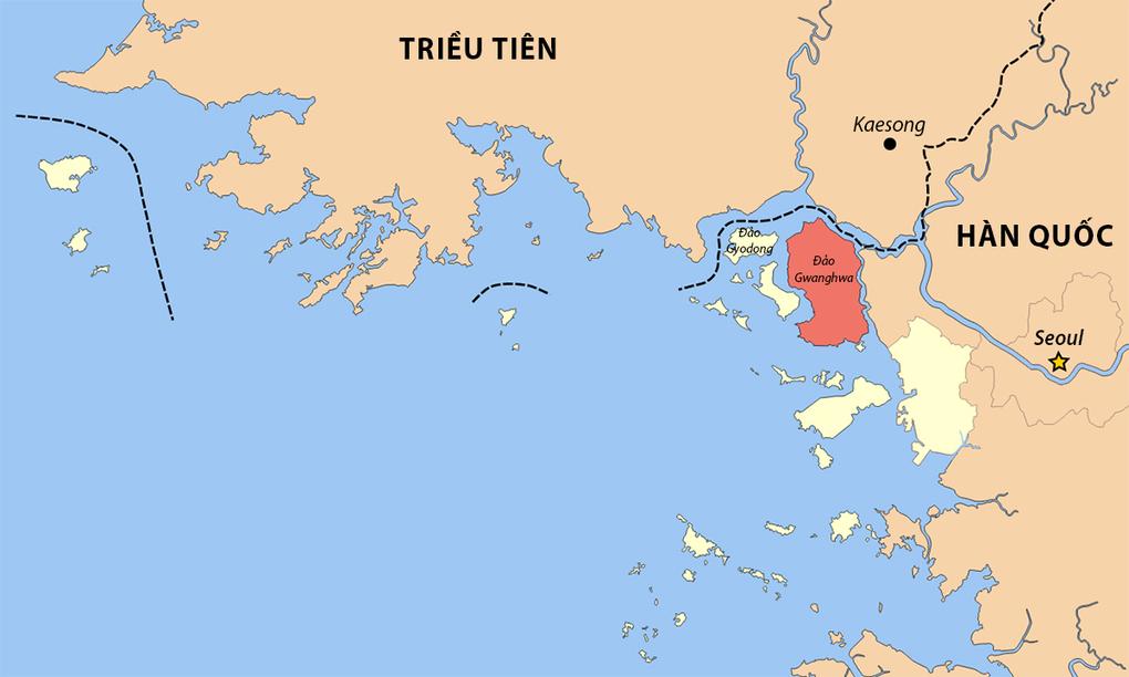 Vị trí đảo Ganghwa của Hàn Quốc. Đồ họa: Wiki Commons.