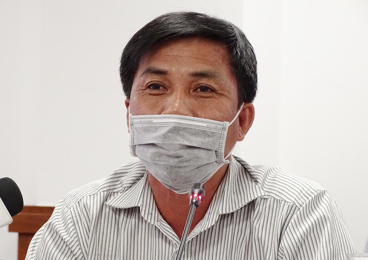 Bác sĩ Chuyên khoa II Phạm Thanh Việt (Trưởng phòng Kế hoạch tổng hợp – Bệnh Viện Chợ Rẫy) tại buổi họp báo chiều 29/7. Ảnh: Hà An.