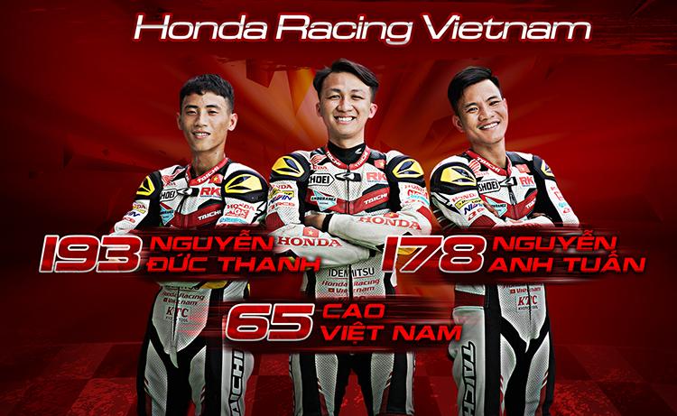 Ba tay đua của Honda Racing Vietnam.