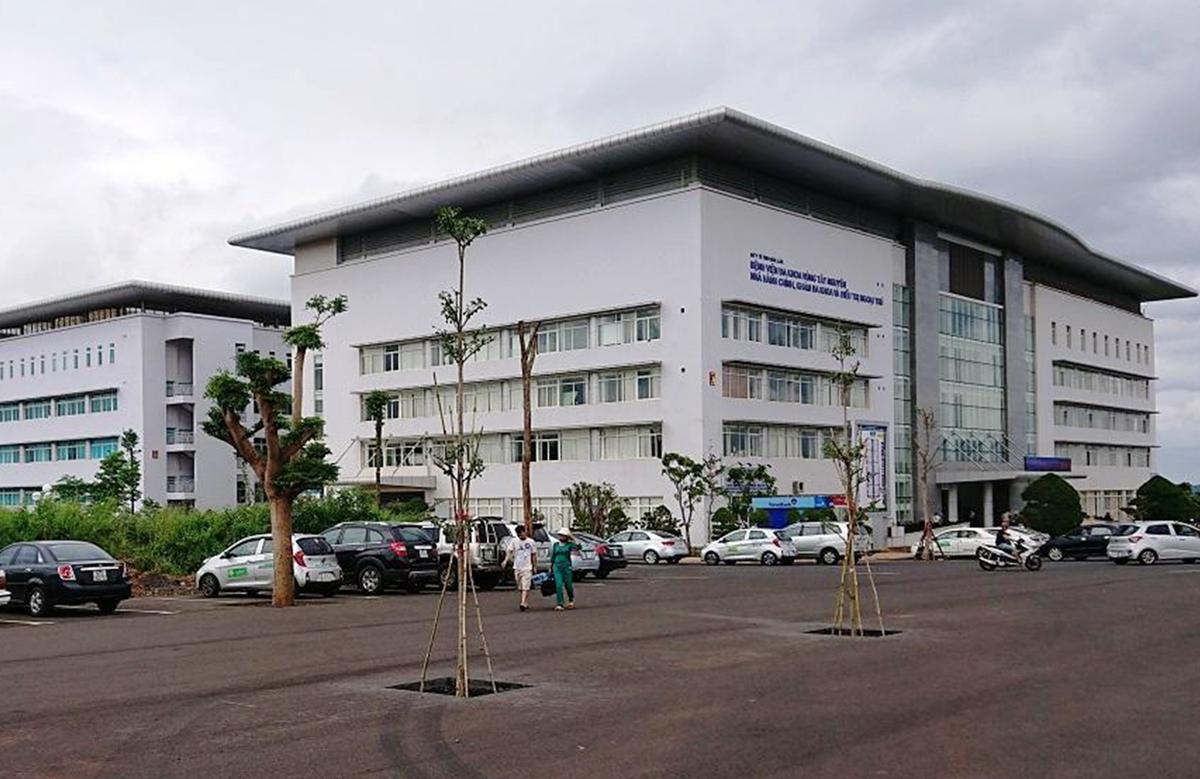 Bệnh viện Đa khoa vùng Tây Nguyên, nơi bệnh nhân 448 đang điều trị, sáng 29/7. Ảnh: Ngọc Oanh.